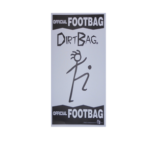 Fying Clipper Dirtbag Footbag   Hacky Sack Poster