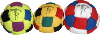 Sand Filled Footbag | Dirtbag 26 3 Pack Footbag  | Flying Clipper Footbag Supplies