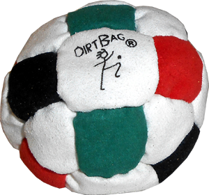 Sand Filled Footbag | DirtBag 26-Panel Footbag  | Flying Clipper Footbag Supplies