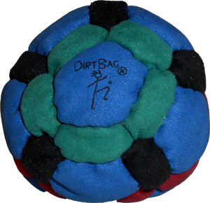 DirtBag 42-Panel Footbag | Flying Clipper Footbag Supplies