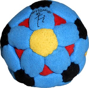 DirtBag 62-Panel Footbag | Flying Clipper Footbag Supplies