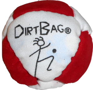 DirtBag Classic: 8-Panel Footbag/Hacky Sacks by Flying Clipper