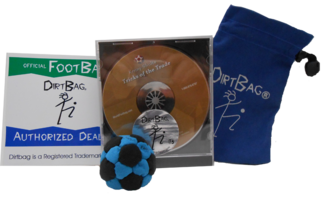 Dirtbag Combo Special | Footbag | Hacky Sack Gift Pack/Starter Kit by Flying Clipper