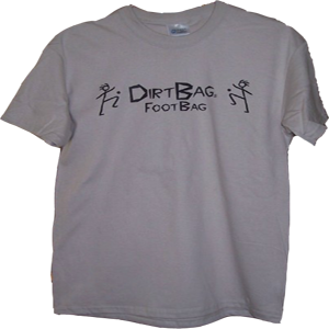 Classic Dirtbag Shirt | Footbag T Shirt  | Flying Clipper Footbag Supplies