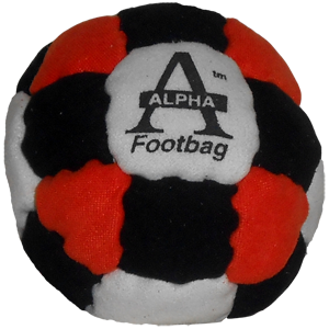 Alpha footbag 26 panel pellet filled footbag