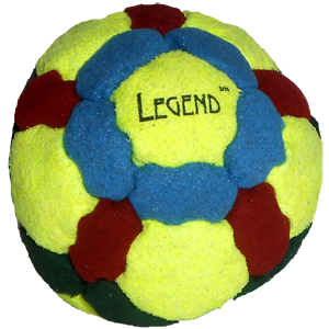 Legend Pellet-Filled Footbag |  Flying Clipper Footbag Supplies