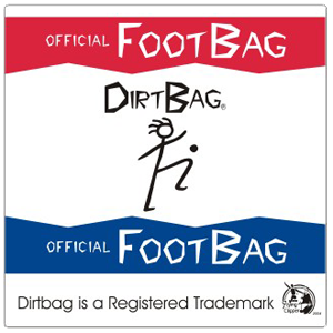 ​100% vinyl high gloss durable official Dirtbag Footbag stickers.