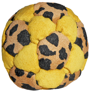 Juice Facile Plastic Pellet-Filled Footbag |  Flying Clipper Footbag Supplies