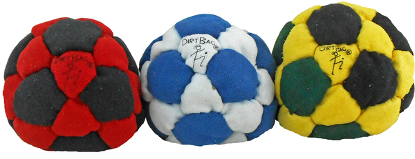 Sand Filled Footbag | Dirtbag 32 Special 3-Pack Footbag | Flying Clipper Footbag Supplies